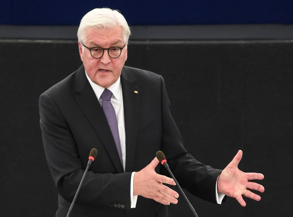 Frank-Walter Steinmeier said Brexiteers would not be able to deliver their promise to 'take back control'