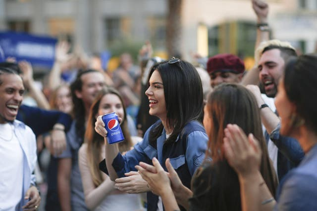 Pep talk: Kendall Jenner's Pepsi advert was pulled shortly after it aired for appearing to trivialise demonstrations tackling social causes
