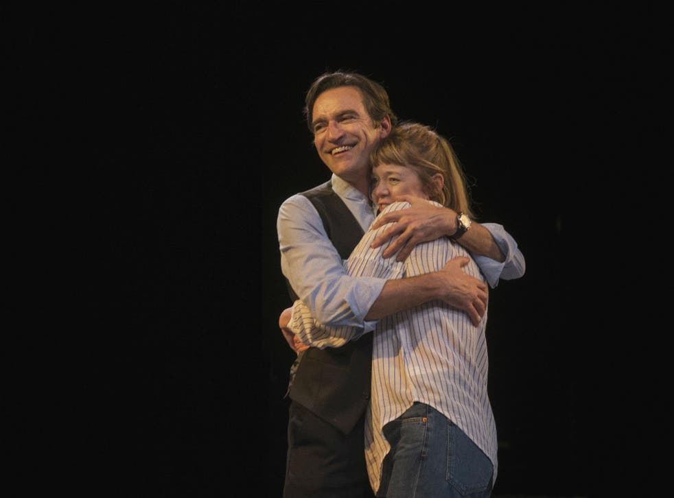 Ben Chaplin as Edward and Anna Maxwell Martin as Kitty in 'Consent' at the National Theatre