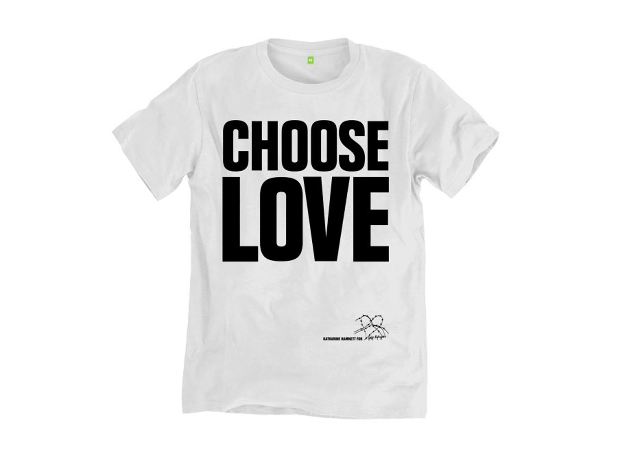 "07da2e119 With a twist on the fashion designer Katharine Hamnett s ""Choose Life""  slogan from the Eighties"
