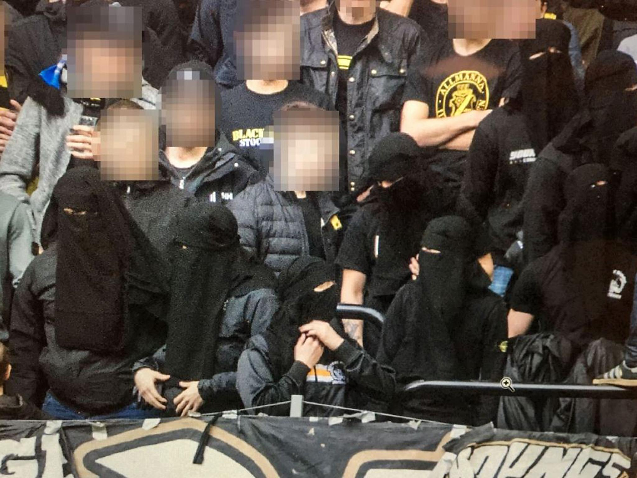 Swedish Football Ultras Wear Niqabs To Get Around Anti Hooligan Law Banning Face Masks The Independent The Independent