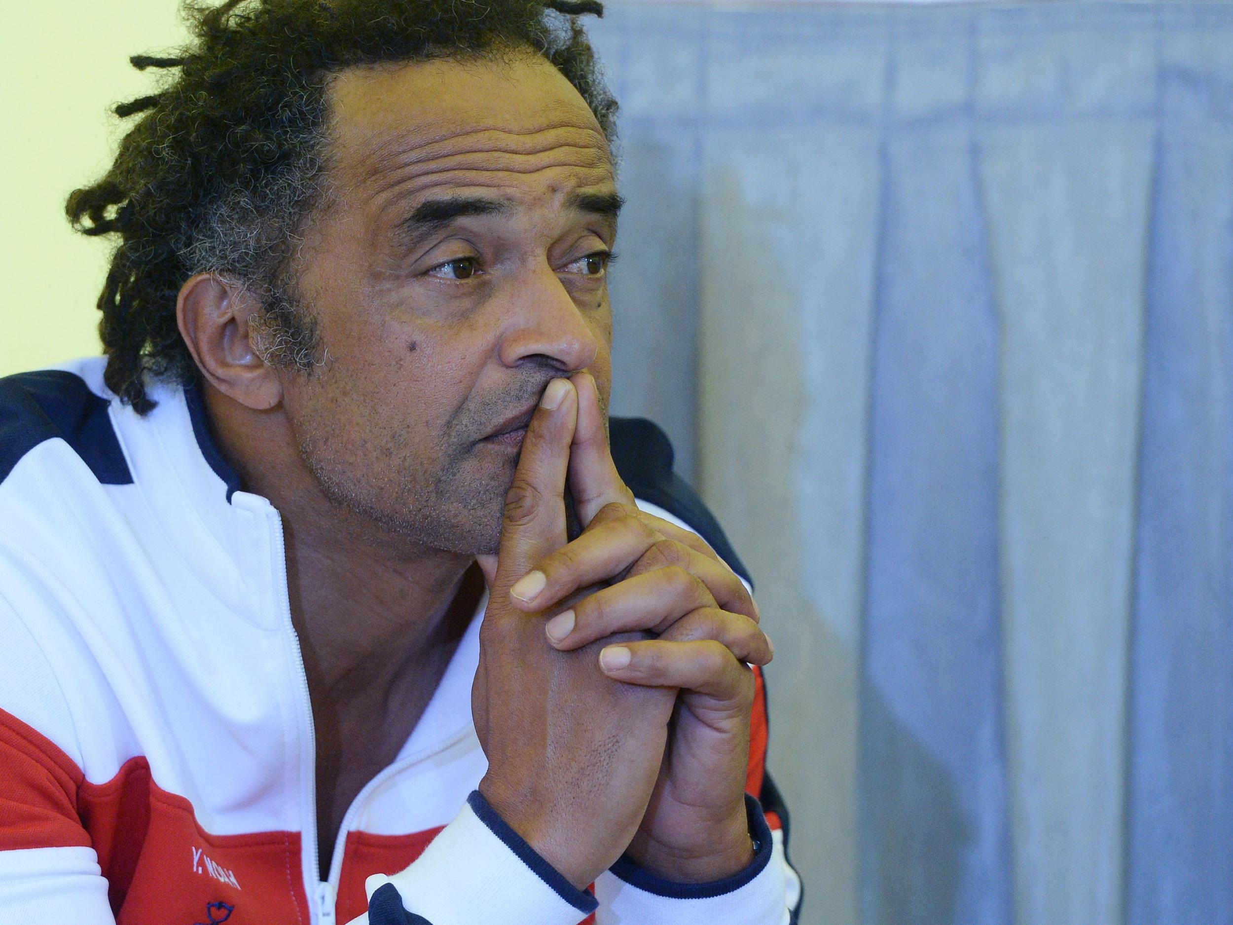 France Davis Cup captain Yannick Noah s on his team