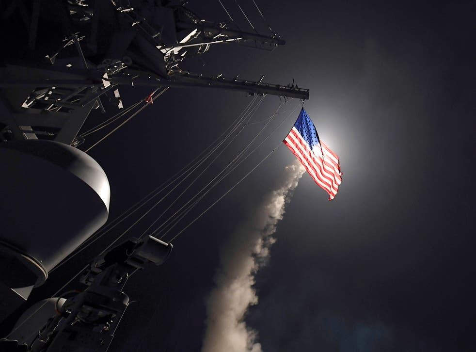 Tim Eaton said the US cruise missile strikes seem to be a message that 'if you use these types of chemical weapons, we will take out your capacity to deliver them'