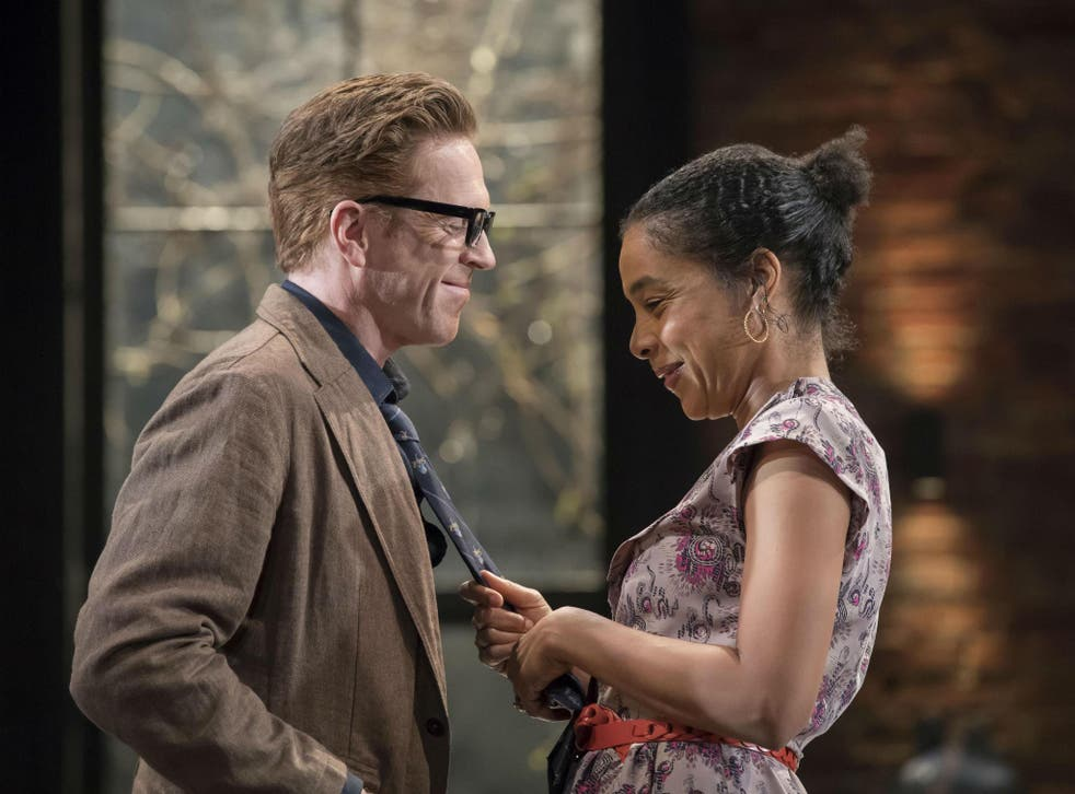 Damian Lewis (Martin) and Sophie Okonedo (Stevie) star in 'The Goat, or Who is Sylvia?' at Theatre Royal Haymarket
