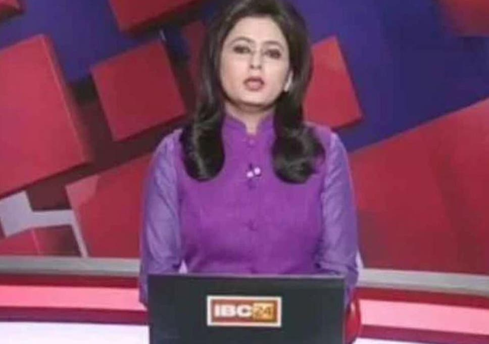 TV presenter reads out breaking news of her husband's death in car