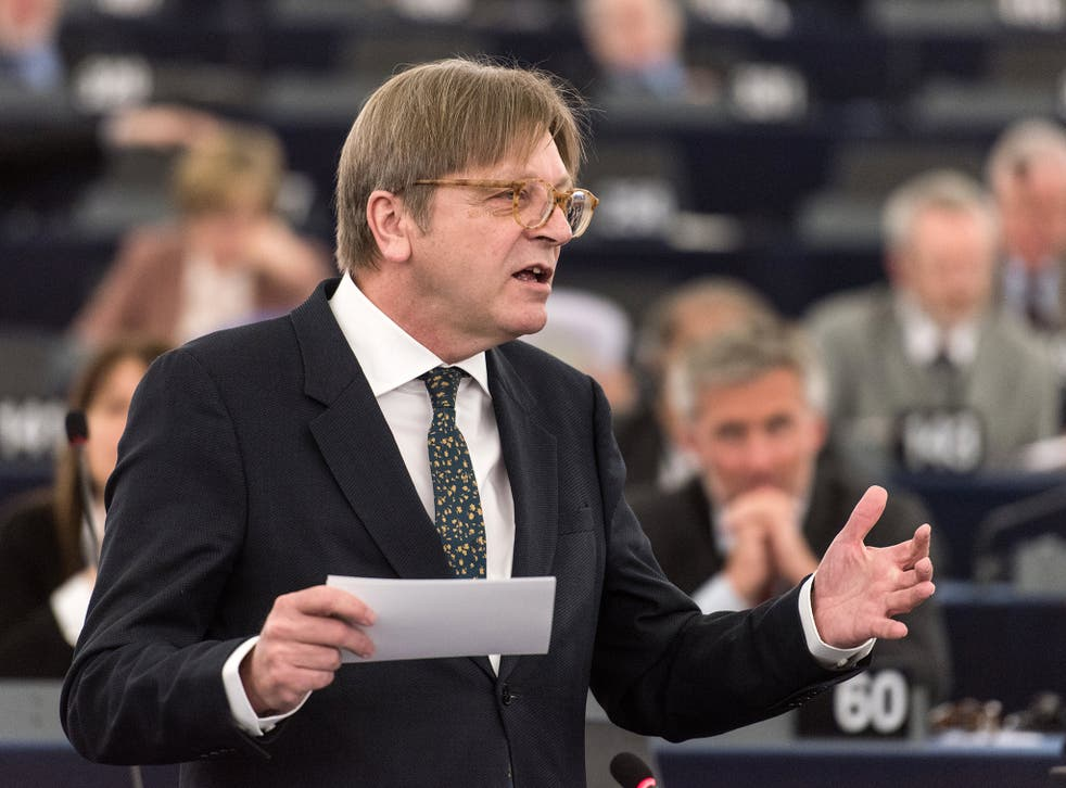 Guy Verhofstadt said more progress must be made on key Brexit issues before talks about a possible trade deal can begin