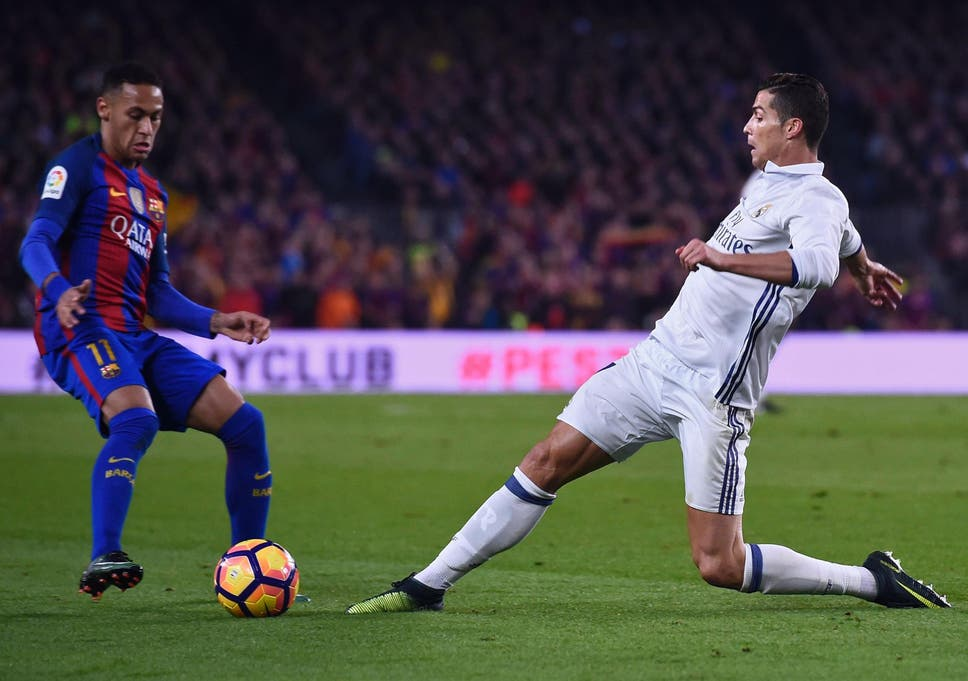 Real Madrid star Cristiano Ronaldo and Barcelona s Neymar both at ... d5a4e5d25