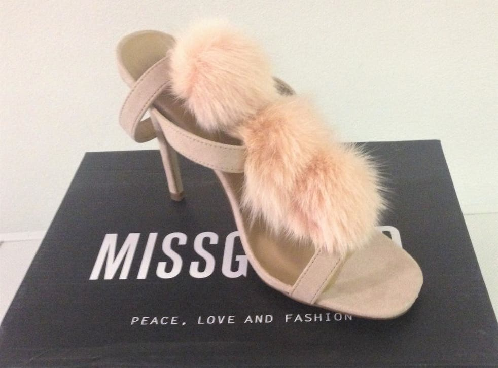 Shoes by fur-free company Missguided purchased by HSI UK and tested positive for illegal cat fur