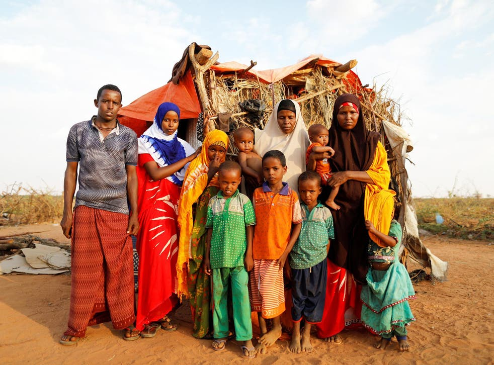 The Hussein family at a camp for internally displaced people in Dolow (Reuters)