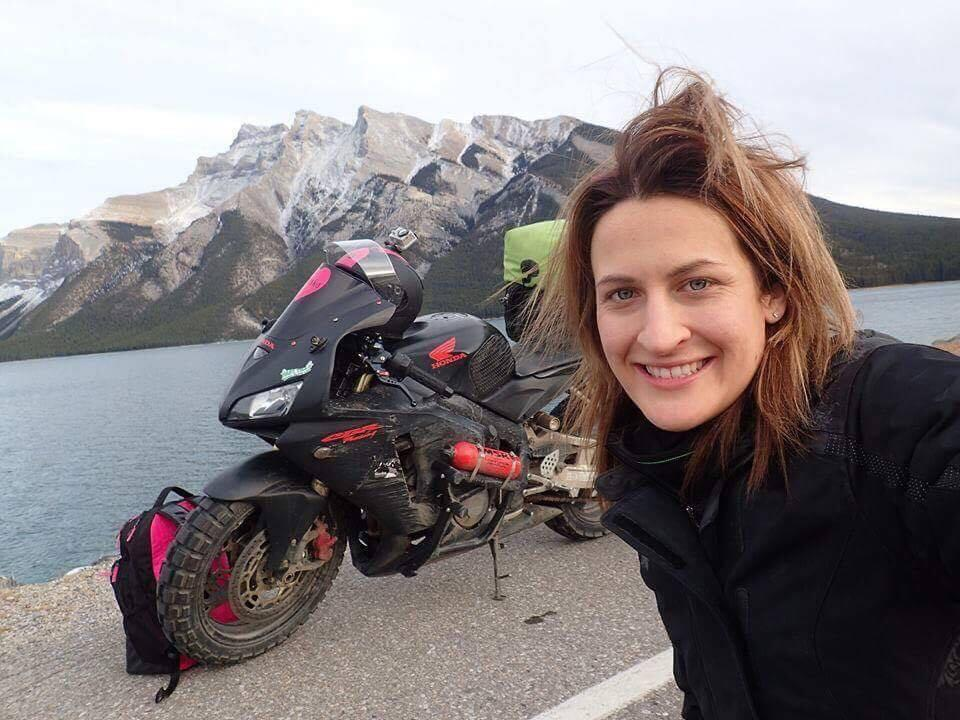 Meet the woman who's motorbiked across the globe