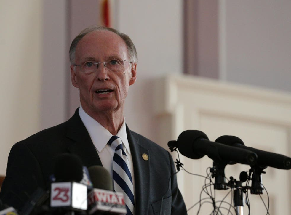 Alabama Governor Robert Bentley announces his resignation amid impeachment proceedings on accusations stemming from his relationship with a former aide in Montgomery, Alabama
