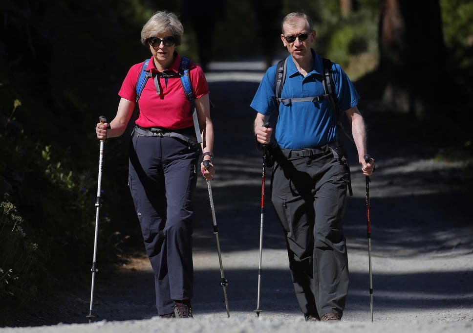 Image result for theresa and Philip walking holiday