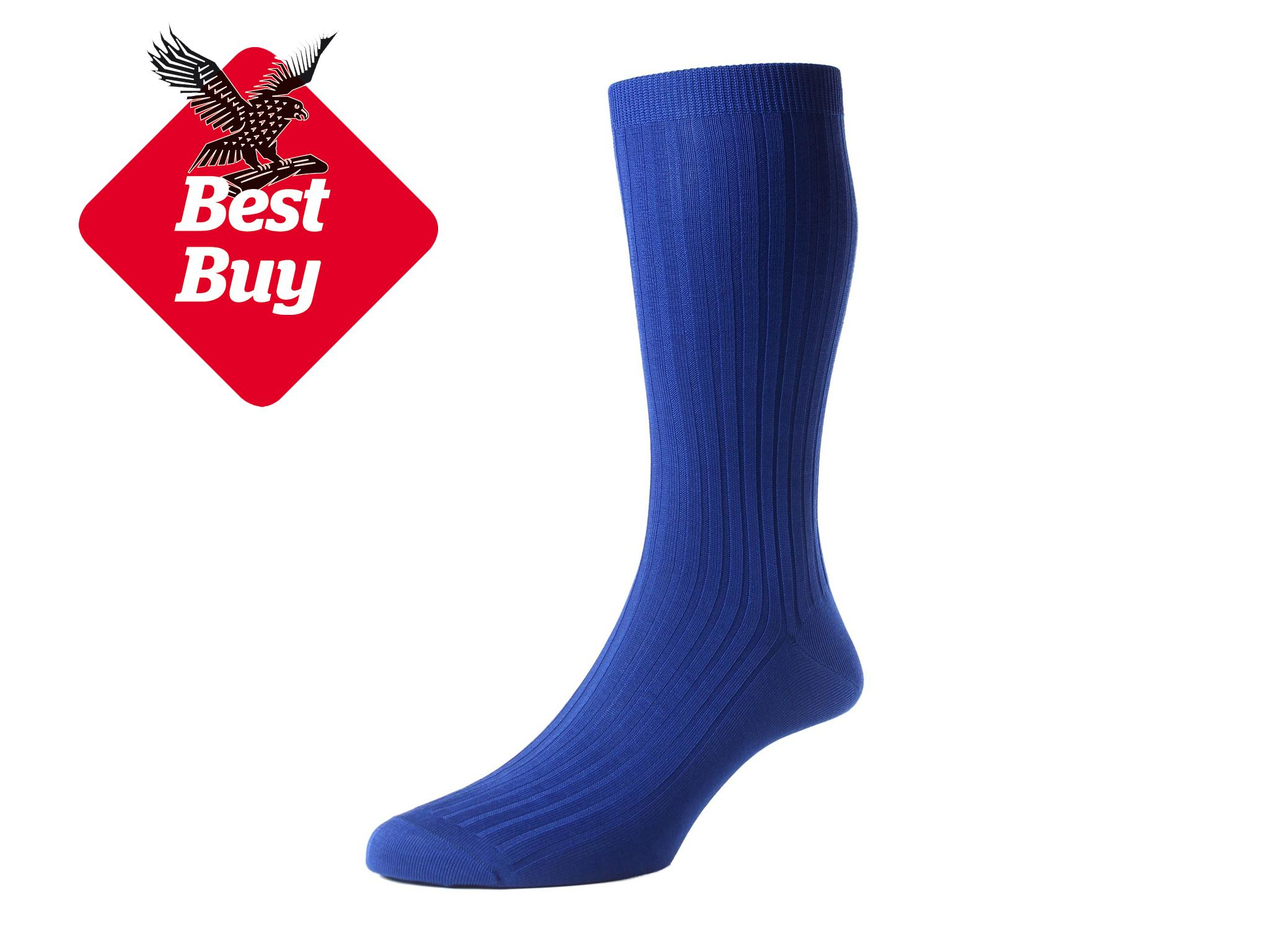 3f410588dbd87 Pantherella Danvers Rib Cotton Lisle Socks: £12, Pantherella