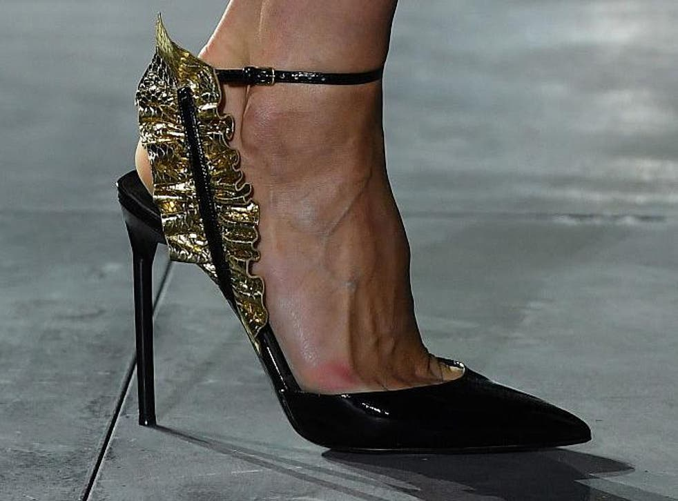 A new pair of shoes offers up an easy solution to testing the most fashion forward of trends - Saint Laurent SS17