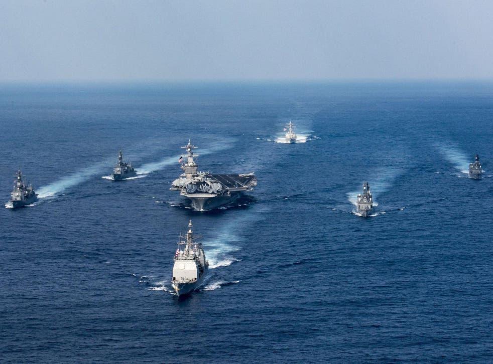 The US fleet being sent to North Korean waters