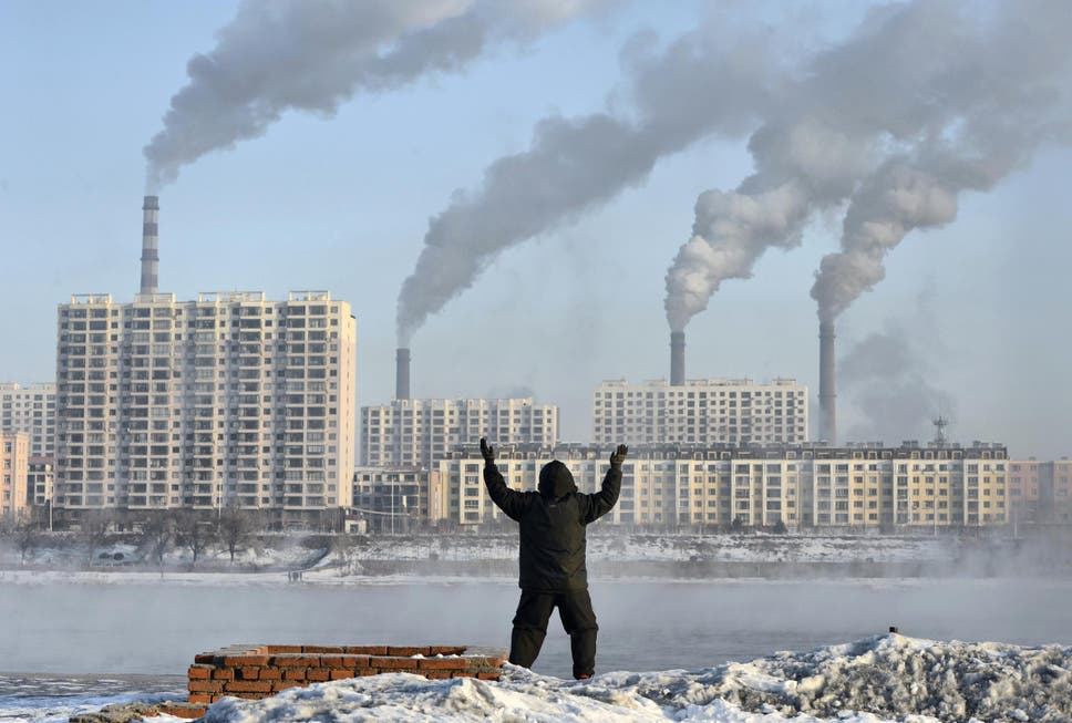 World must hit zero carbon emissions well before 2040 scientists an elderly man exercises on the banks of the songhua river in jilin china fandeluxe Images
