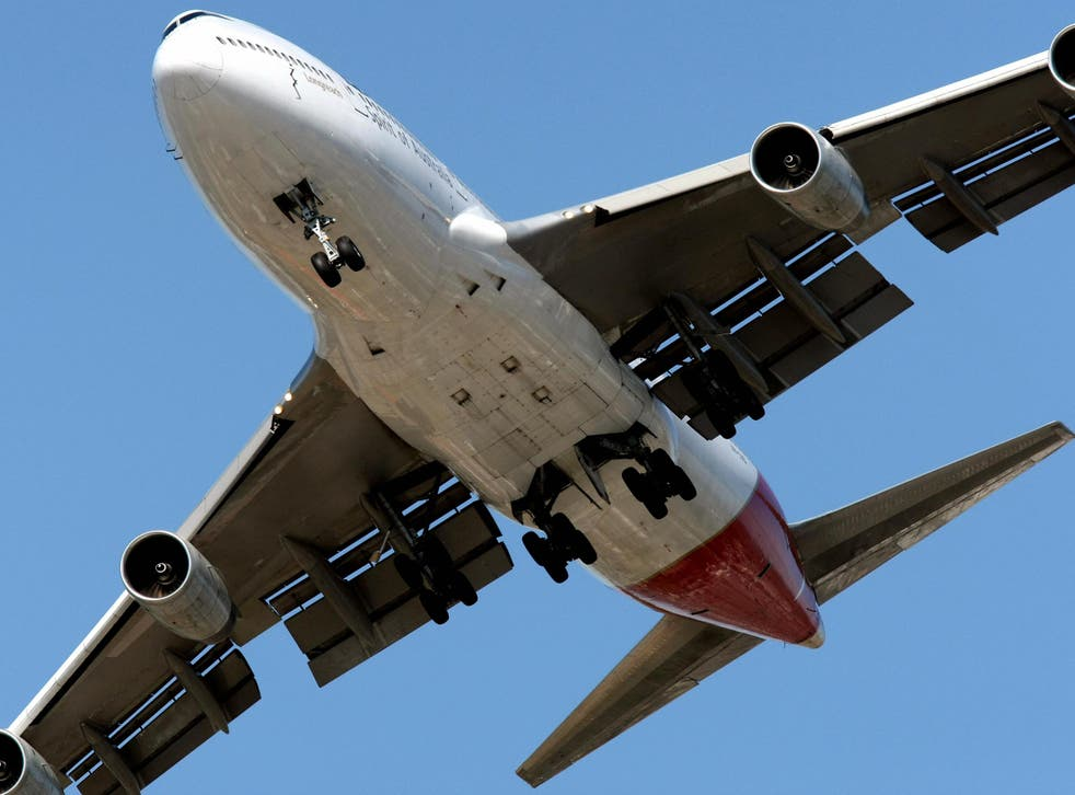 A Qantas Boeing 747 takes off from Melbourne's Tullamarine International Airport