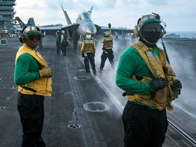 USS Carl Vinson is steaming to waters off the Korean Peninsula as anticipation mounts that Kim Jong Un will stage another weapons test around the anniversary of the nation's founder