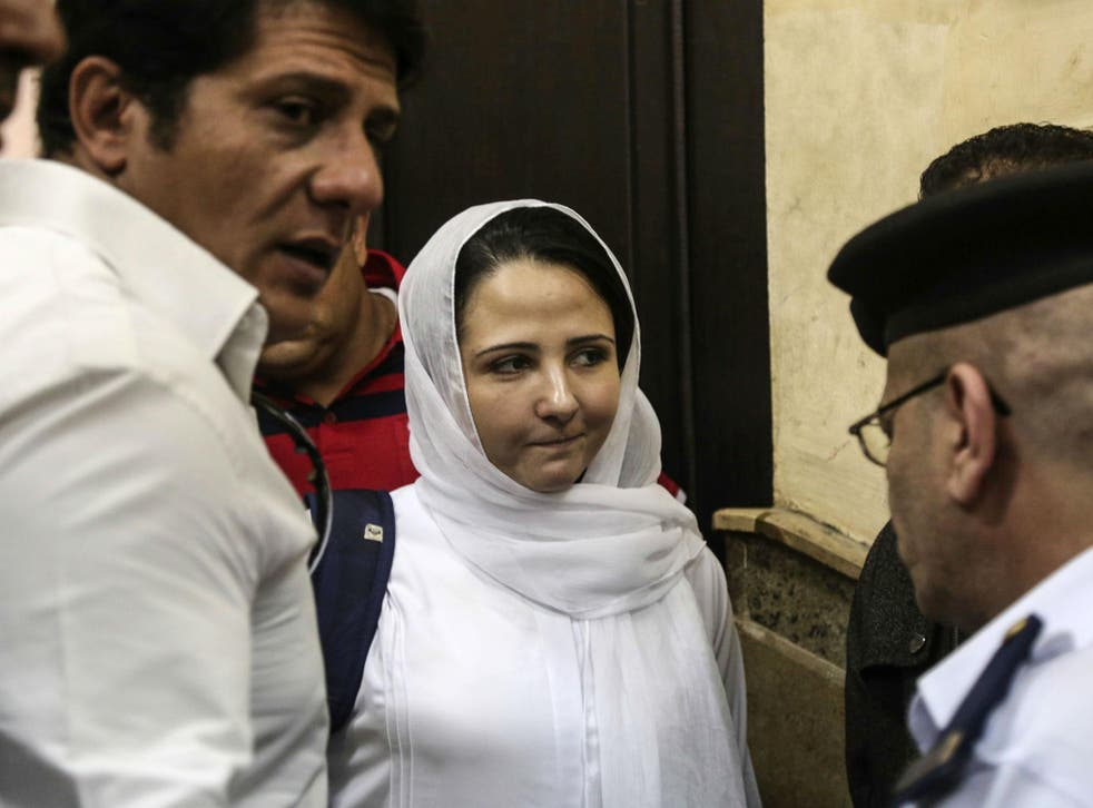 Ms Hijazi and seven others had all charges against them dropped after three years in prison