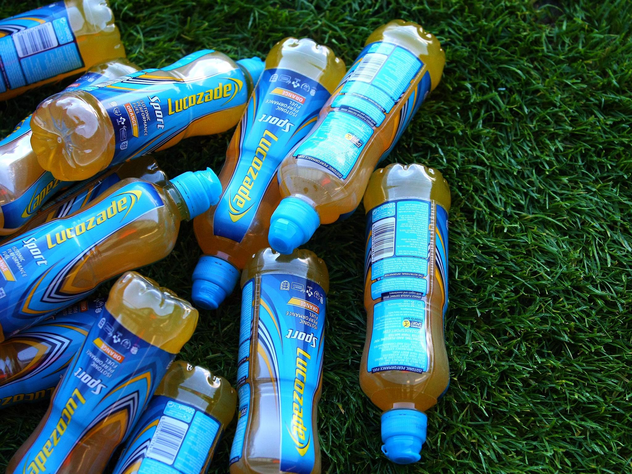 1 Litre Lucozade Sports Drinking Water Bottle Football Cycling Rugby