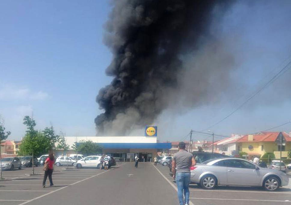 ec2a933f89 Five killed as plane crashes in Lidl car park in Portugal