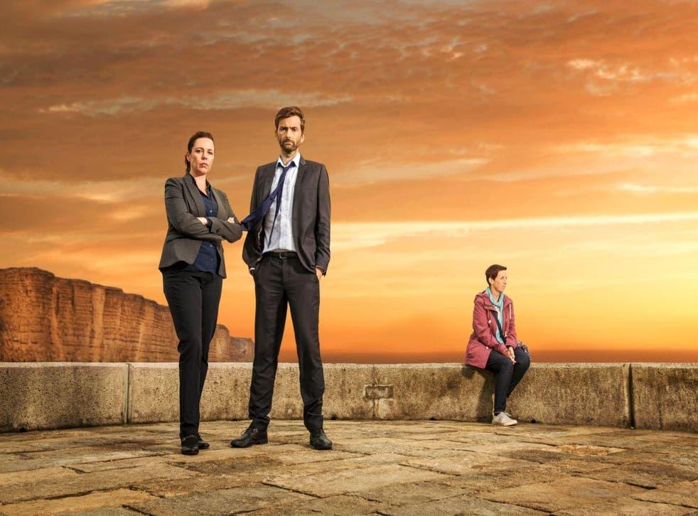 David Tennant as DI Hardy, Olivia Colman as DS Miller and Julie Hesmondhalgh as rape victim Trish Winterman