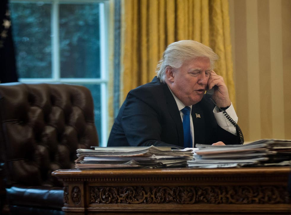 White House says Mr Trump and Mr Erdogan discussed the US missile strike on a Syrian regime airfield in response to a chemical attack that killed dozens, with Mr Trump thanking his Turkish counterpart for supporting the strike