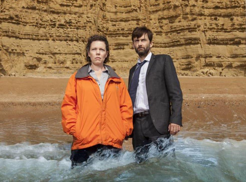 Olivia Colman and David Tennant in 'Broadchurch'