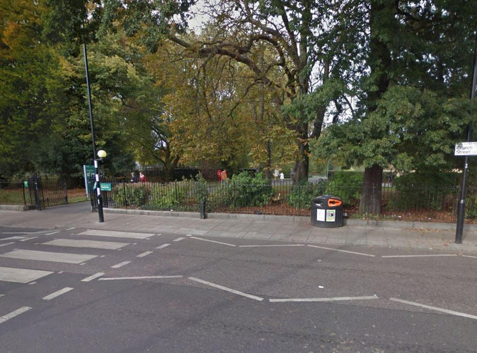 The three youngsters were on their way home from Clissold Park in Stoke Newington