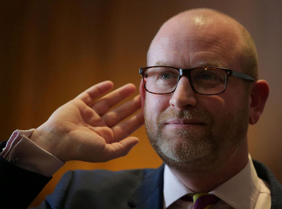Paul Nuttall described the burqa and niqab as a security risk