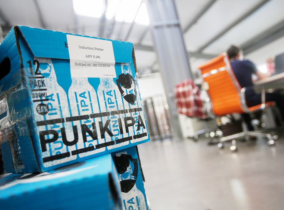 To claim a free can of BrewDog's Punk IPA, voters can take a picture of themselves outside their polling stations and show that picture to staff at any BrewDog bar
