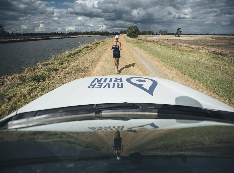 Mina Guli is running the equivalent of 40 marathons along six of the world's best known rivers