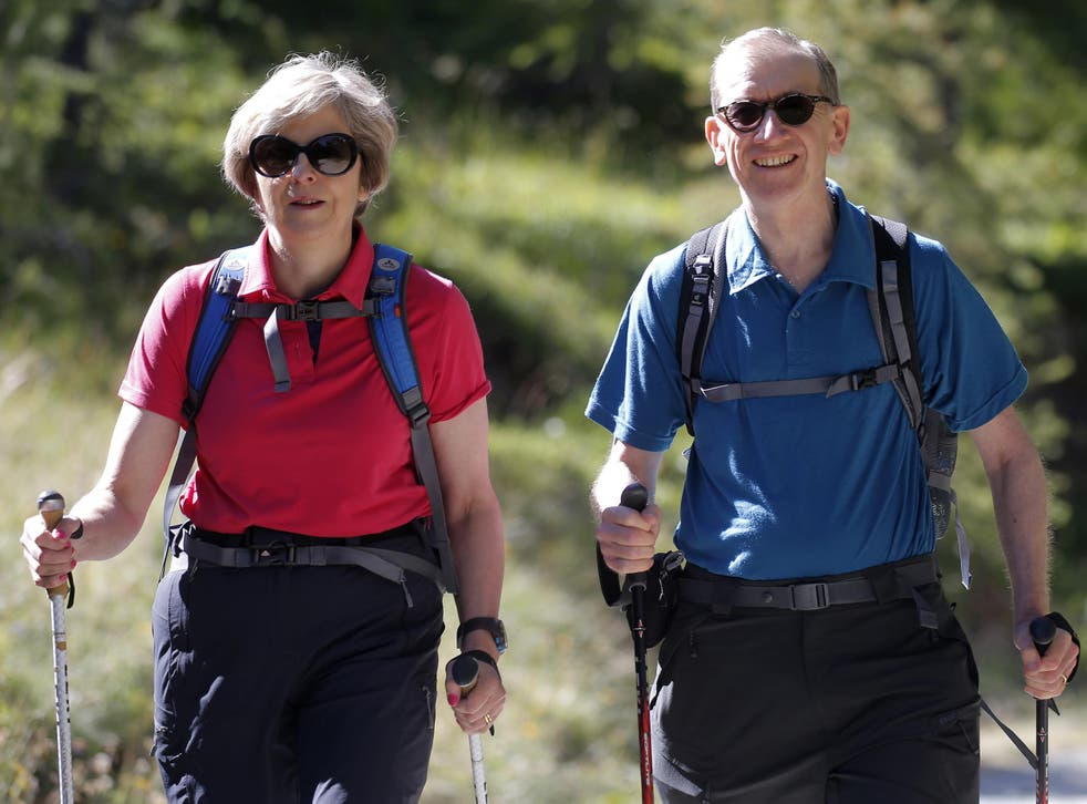 Theresa May, a keen walker, is unlikley to be among the millions of adults aged 40 to 60 who fail to walk less than 10 minutes continuously each month at a brisk pace