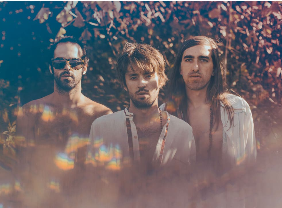 Graham Dickson, Sebastian Pringle and Gilbert Vierich of Crystal Fighters, who will headline Secret Garden Party  in July