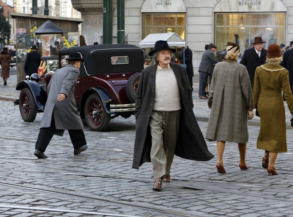 Geoffrey Rush as Albert Einstein in the National Geographic's 'Genius'
