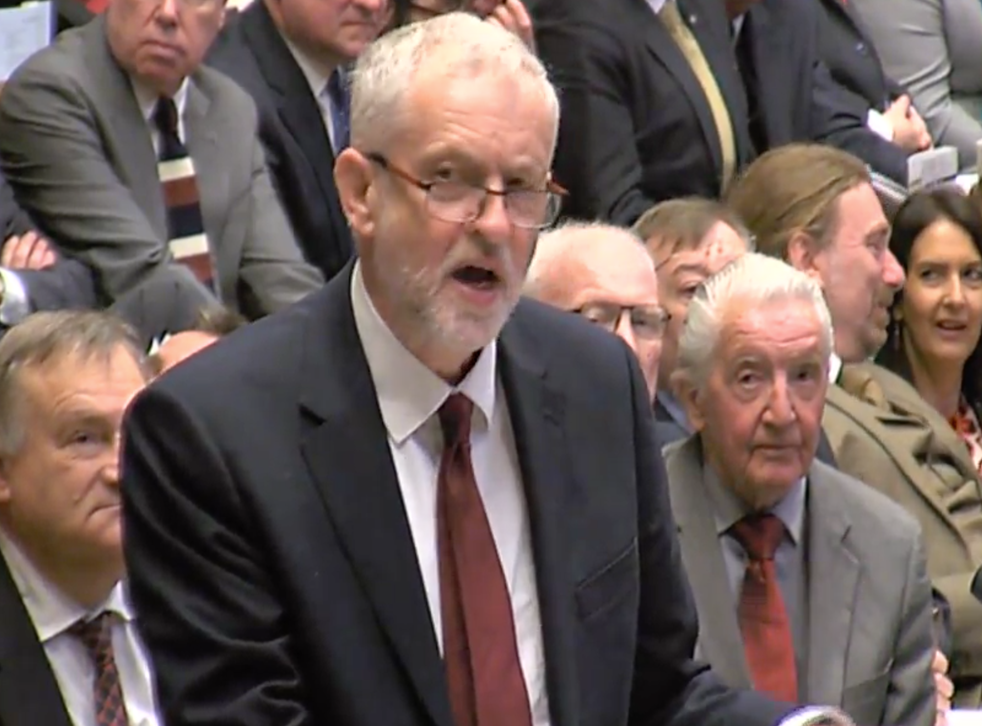 Jeremy Corbyn accused the PM of refusing to defend her record