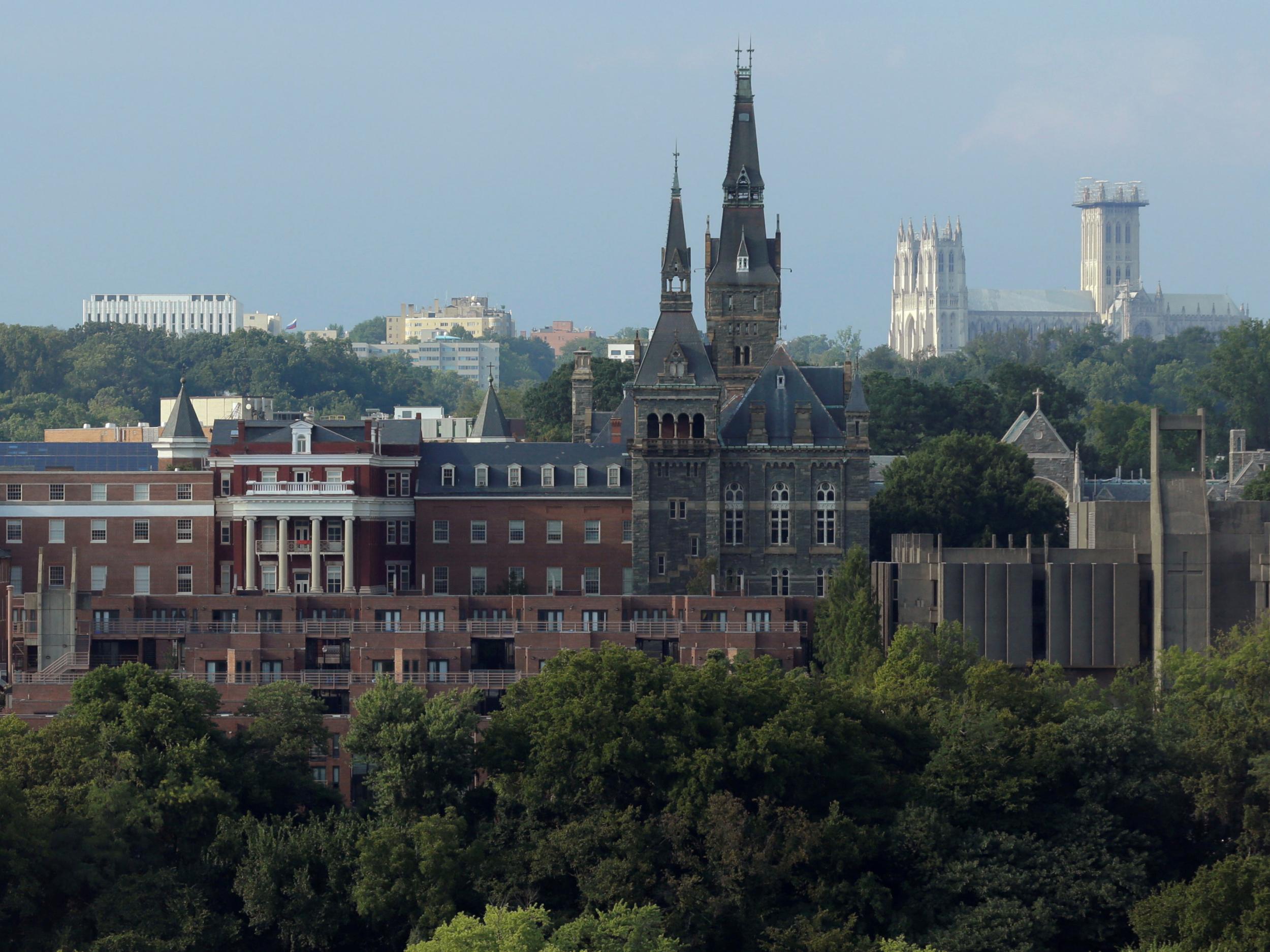 georgetown university renames buildings after african