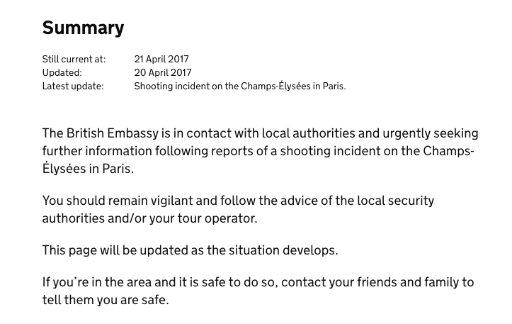 Paris attack: Foreign Office issues new travel warning for UK ...