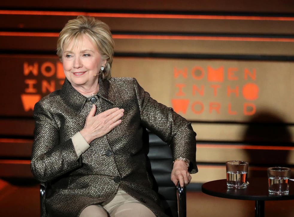 Former US Secretary of State, First Lady and Democractic presidential candidate Hillary Clinton