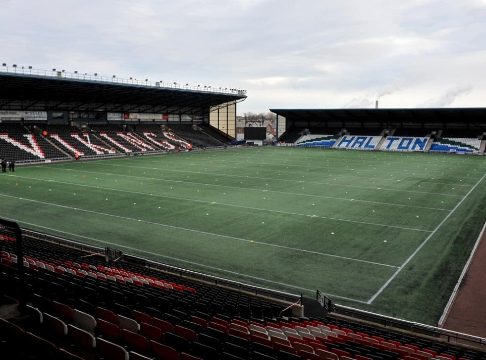 A general view of Widnes Vikings' Select Security Stadium