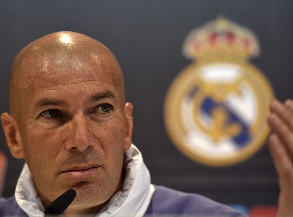 Zinedine Zidane has an embarrassment of riches to choose from