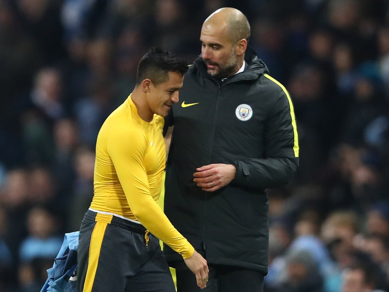 Pep Guardiola expects a number of top clubs to try and sign Alexis Sanchez from Arsenal this summer