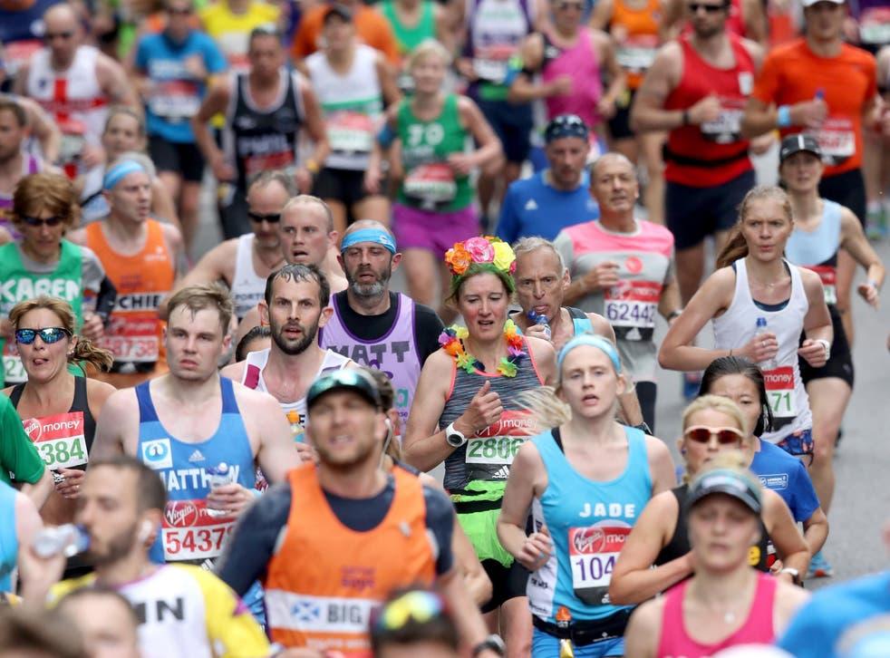 Runners take part in the 2017 London Marathon
