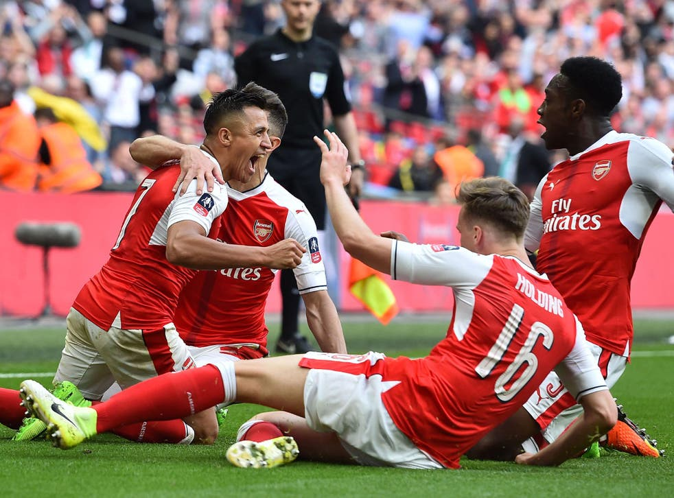 Alexis Sanchez scores the winning goal in extra-time to send Arsenal through to the FA Cup final