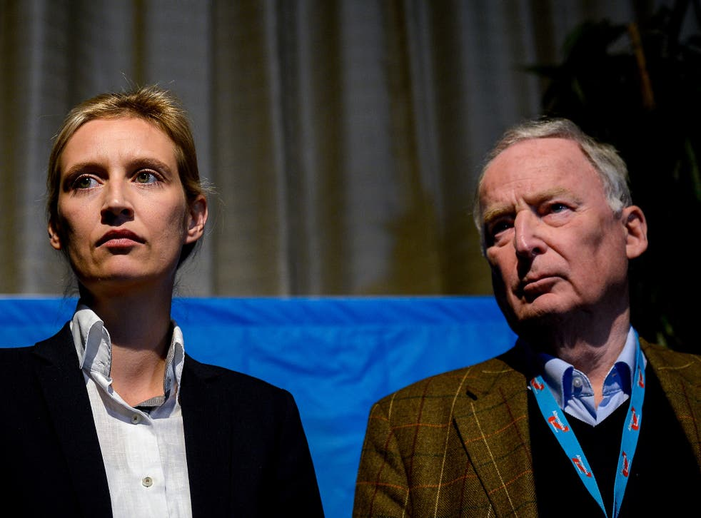 Ms Weidel and Mr Gauland were chosen after the public face of the party Frauke Petry said she would no longer be available