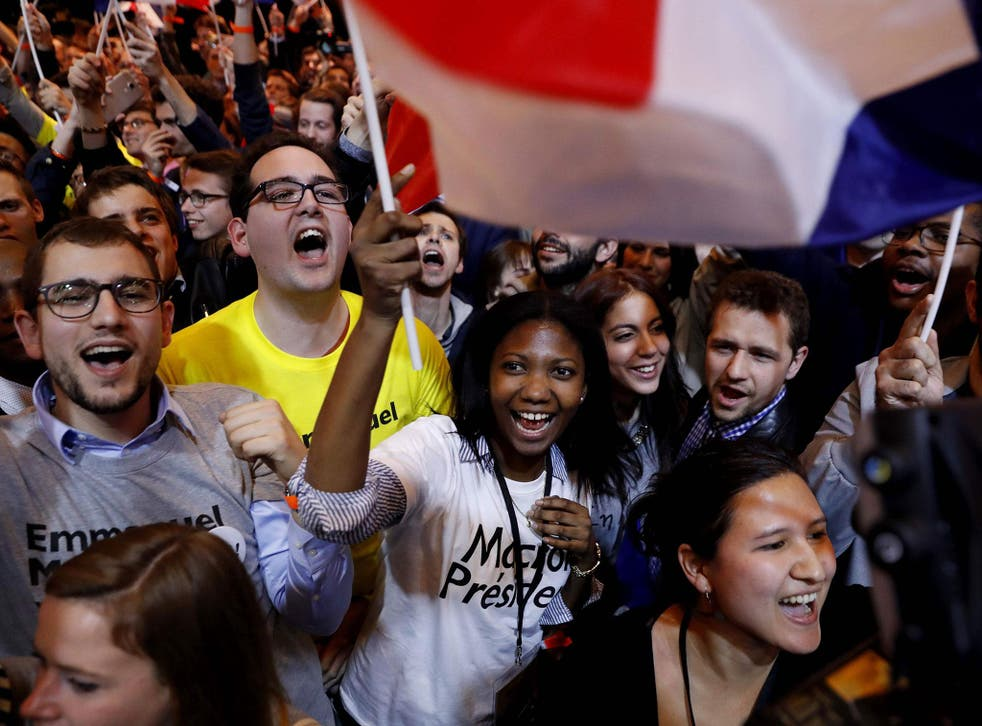 Macron mobilised support with his En Marche! movement