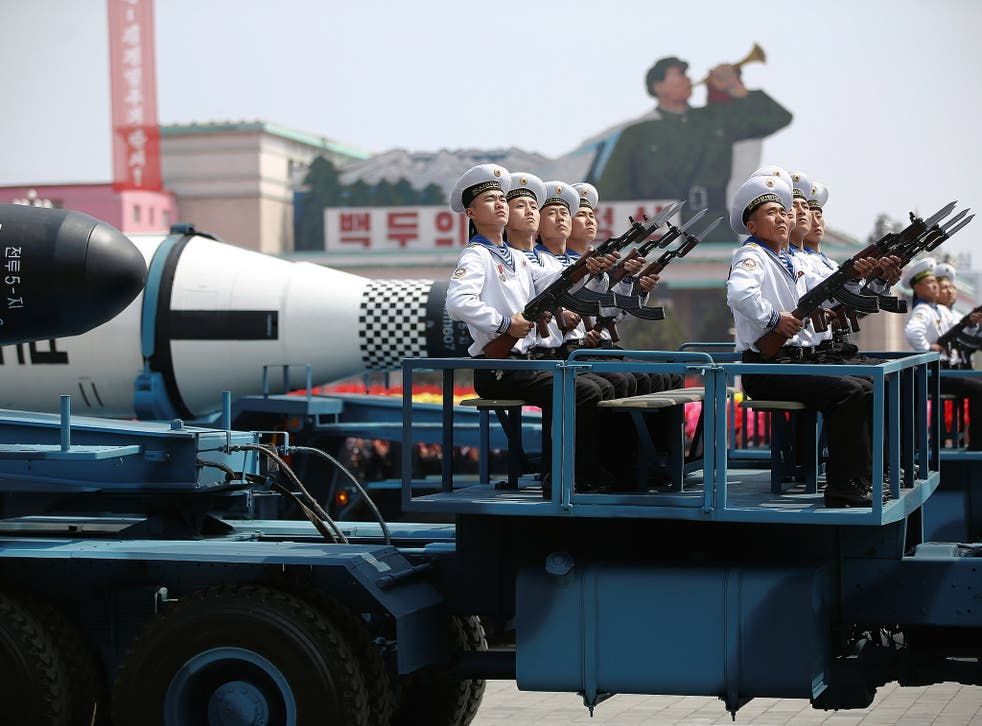 North Korean military hardware on display earlier this month on the Day of the Sun