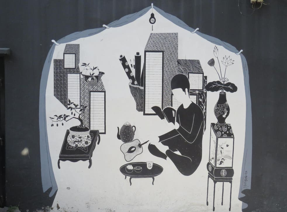 A newly-created arts festival recently filled this neighbourhood with street art, including this design