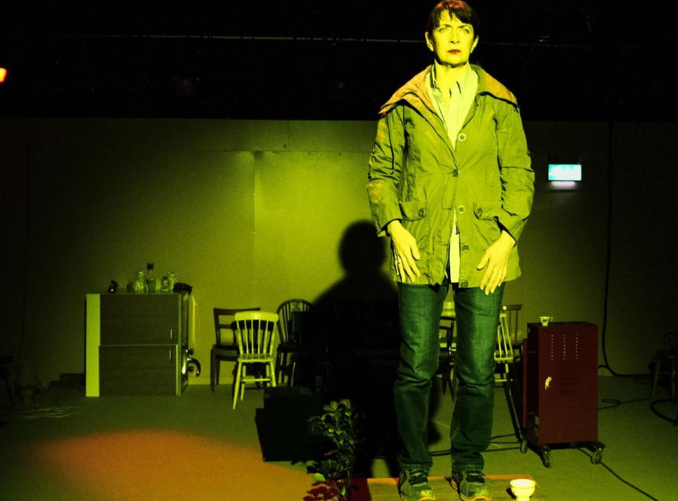 Maureen Beattie in 'Nuclear War' by Simon Stephens at the Royal Court Theatre upstairs