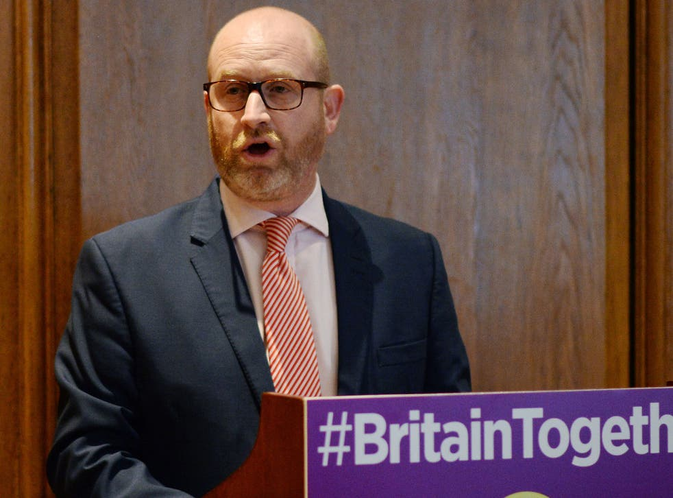 Ukip leader Paul Nuttall during his party's policy announcement